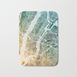 New York City Street Map Bath Mat