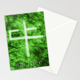 Abide Green Stationery Cards