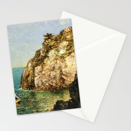 Boat Moored at Fort Wetherill, Conanicut Island, Jamestown, Rhode Island by James Gale Tyler Stationery Cards