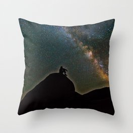 Milky Way Sky Throw Pillow