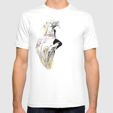 ELECTRIC GIRL Mens Fitted Tee MEDIUM White