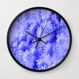 Periwinkle Floral Garden Wall Clock