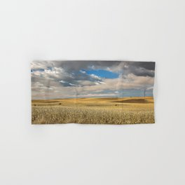 Iowa in November - Golden Corn Field in Autumn Hand & Bath Towel
