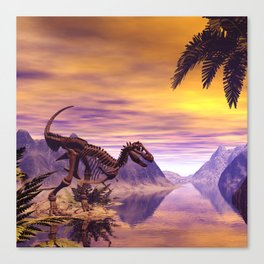 Dinosaur Skeleton Canvas Print