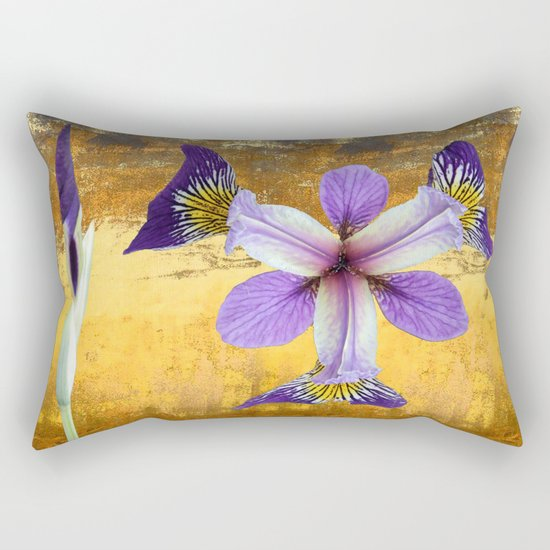 In the eye of the Iris Rectangular Pillow