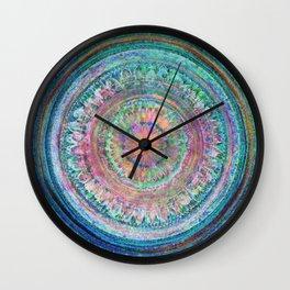 Pink and Turquoise Mandala Wall Clock