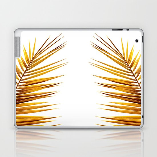 golden palm leaf II Laptop & iPad Skin