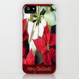 Mixed Color Poinsettias 2 Merry Christmas P5F5 iPhone Case