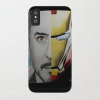 tony stark iPhone & iPod Cases featuring Tony Stark by Goolpia