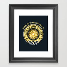 Pacific Rim Defense Academy Framed Art Print