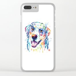 Bernese Mountain Dog Watercolor Painting Clear iPhone Case