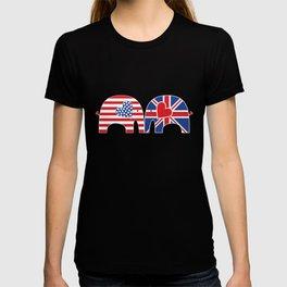 U.S.-U.K. Friendship Elephants T-shirt