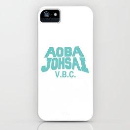 Aoba Johsai VBC Practice Shirt in Teal - Haikyuu iPhone Case