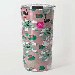 Swan Lake pattern-soft pink Travel Mug