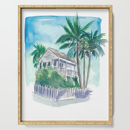 Key West Florida Conch Dream House - Palms and Balcony Serving Tray