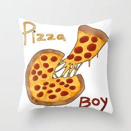 Pizza Boy Throw Pillow