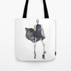 skeleton in leather & fur Tote Bag