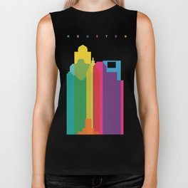 Shapes of Houston. Accurate to scale Biker Tank