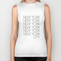 new york city Biker Tanks featuring New York New York City by Stylish in Sequins