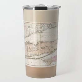 Long Island New York 1842 Mather Map Travel Mug