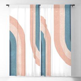 70s Rainbow Blackout Curtain