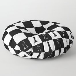 Chess Board Layout Floor Pillow