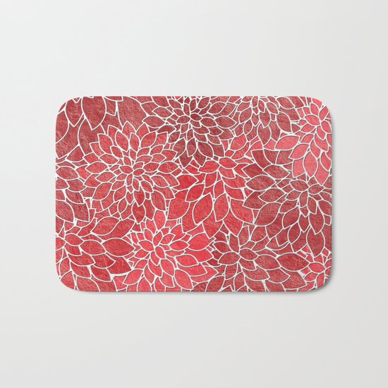 Floral Abstract 20 Bath Mat