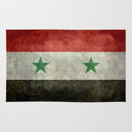 Syrian national flag, vintage Rug