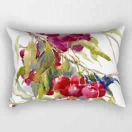 Cherries on Tree, cheery kitchen artwork fruits, fruit art Rectangular Pillow