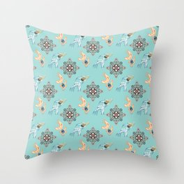 Aquarium 2 pattern Throw Pillow