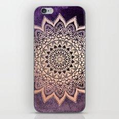 GOLD NIGHTS MANDALA IN PURPLE iPhone & iPod Skin
