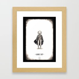 Kürbis Boy Framed Art Print