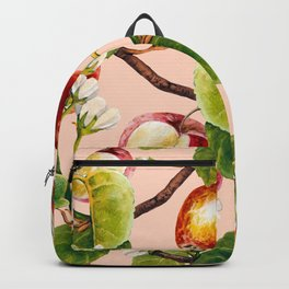 White apple blossoms and apples Backpack