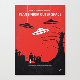 No518 My Plan 9 From Outer Space minimal movie poster Canvas Print