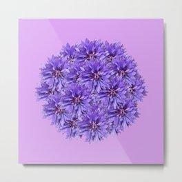 Purple Flower Ball Illustration - Lilac Background #decor #society6 #buyart Metal Print