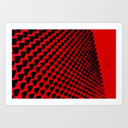 Eye Play in Black and Red Art Print