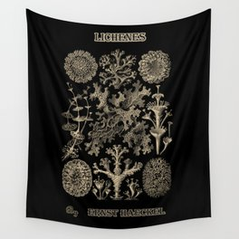 """Lichenes"" from ""Art Forms of Nature"" by Ernst Haeckel Wall Tapestry"