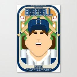 Baseball Blue Pinstripes - Deuce Crackerjack - June version Canvas Print
