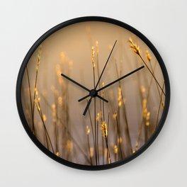 Tall Grass in Camargue Wall Clock