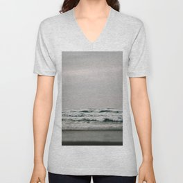 Waves Crashing on Cannon Beach Oregon Unisex V-Neck