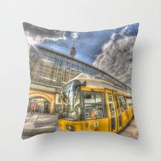 Berlin Tram Throw Pillow