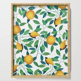 Lemon pattern II Serving Tray