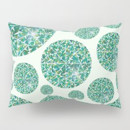 Green round Gem Pattern Pillow Sham