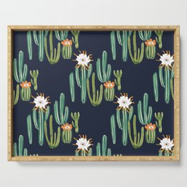 Dark Cactus Desert Serving Tray