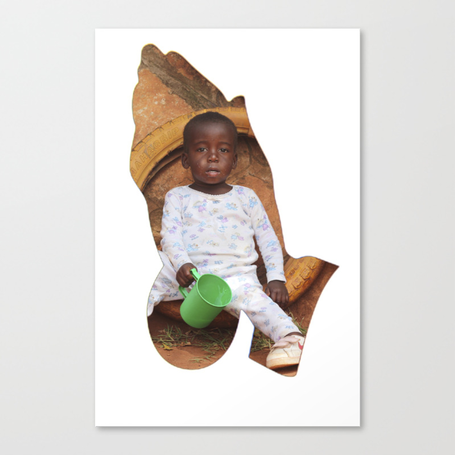 PRAY FOR AFRICA Canvas Print