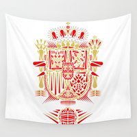 spain Wall Tapestries featuring Spain Crest by George Williams