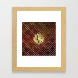 Golden Belgian Malinois - Mechelaar  - Maligator Framed Art Print