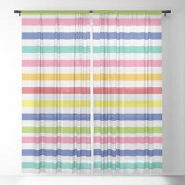 Rainbow Stripes Sheer Curtain