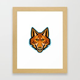 Coyote Head Front Mascot Framed Art Print