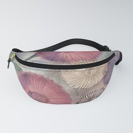 GERBERA AND DAISIES FLORAL PASTEL SUMMER MEADOW DESIGN Fanny Pack